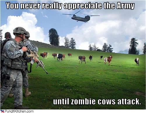 funny cows. Frak the Zombie Cows!