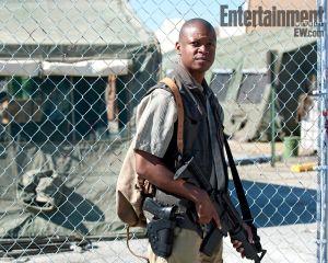 Lawrence Gilliard, Jr. actor. Season 4, The Walking Dead.
