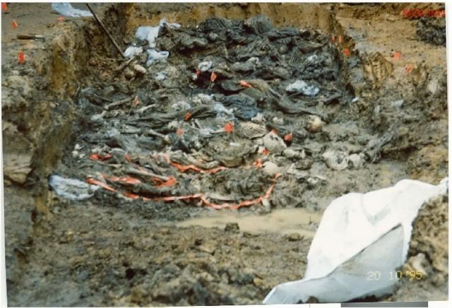 Srebrenica Massacre (Srebrenica Genocide, Bosnian Genocide) Kamenica Budak Mass Grave Exhumations Exhibit 2